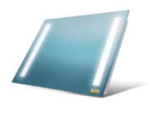 A mirror + led infrared heating panel with frame
